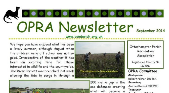 OPRA September Newsletter
