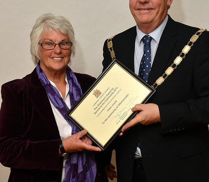 Helen Jowett Receives Somerset County Council Chairman's Award