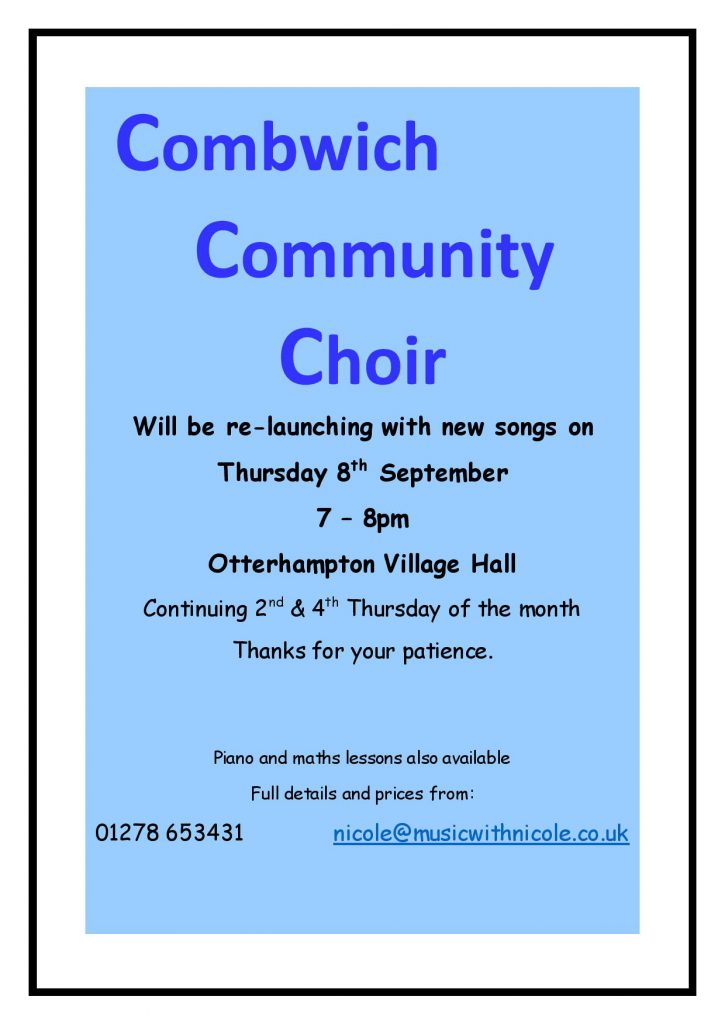 Combwich Community Choir re-launch